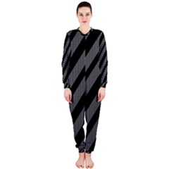 Black and gray lines OnePiece Jumpsuit (Ladies)