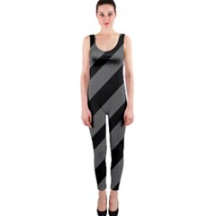 Black and gray lines OnePiece Catsuit