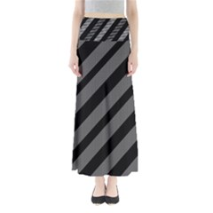 Black and gray lines Maxi Skirts