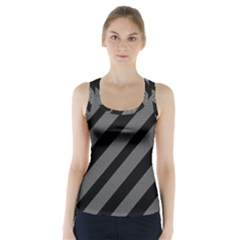 Black And Gray Lines Racer Back Sports Top