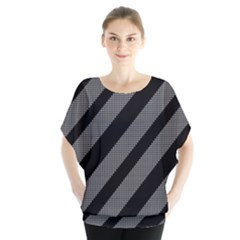 Black and gray lines Blouse