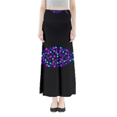 Purple fish Maxi Skirts