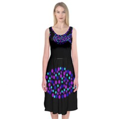 Purple Fish Midi Sleeveless Dress