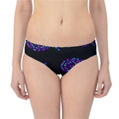 Purple fishes pattern Hipster Bikini Bottoms