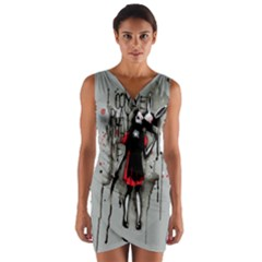 Come Play With Me   Wrap Front Bodycon Dress