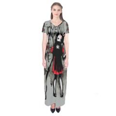 Come Play With Me   Short Sleeve Maxi Dress