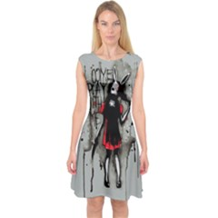 Come Play With Me   Capsleeve Midi Dress