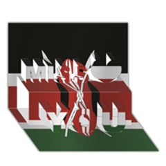 Flag Of Kenya Miss You 3D Greeting Card (7x5)