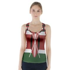 Flag Of Kenya Racer Back Sports Top