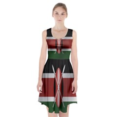 Flag Of Kenya Racerback Midi Dress