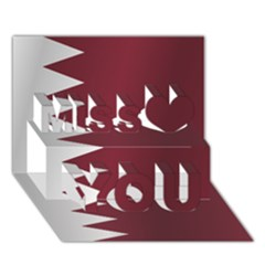 Flag Of Qatar Miss You 3D Greeting Card (7x5)