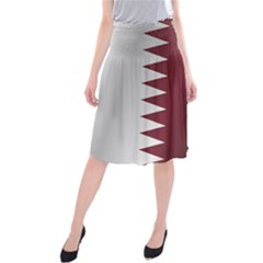 Flag Of Qatar Midi Beach Skirt