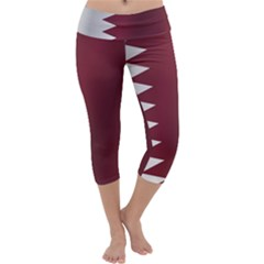 Flag Of Qatar Capri Yoga Leggings