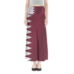 Flag Of Qatar Maxi Skirts