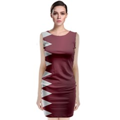 Flag Of Qatar Classic Sleeveless Midi Dress