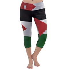 Flag Of Jordan Capri Yoga Leggings