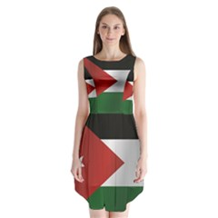 Flag Of Jordan Sleeveless Chiffon Dress