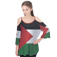 Flag Of Jordan Flutter Tees