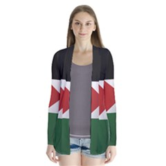 Flag Of Jordan Drape Collar Cardigan