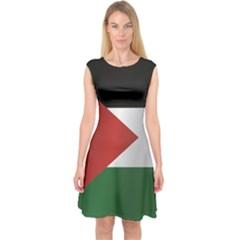 Flag Of Jordan Capsleeve Midi Dress