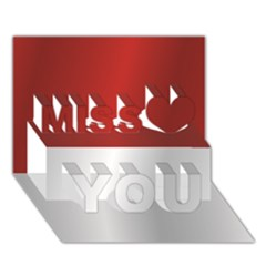 Flag Of Indonesia Miss You 3D Greeting Card (7x5)
