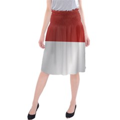 Flag Of Indonesia Midi Beach Skirt