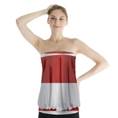 Flag Of Indonesia Strapless Top