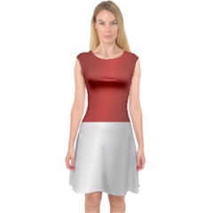 Flag Of Indonesia Capsleeve Midi Dress