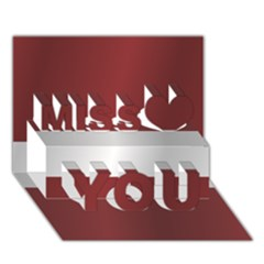 Flag Of Latvia Miss You 3D Greeting Card (7x5)