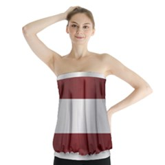 Flag Of Latvia Strapless Top