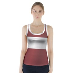 Flag Of Latvia Racer Back Sports Top
