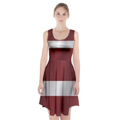 Flag Of Latvia Racerback Midi Dress
