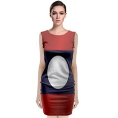 Flag Of Laos Classic Sleeveless Midi Dress
