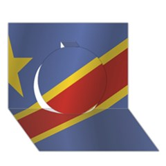 Flag Of Democratic Republic Of The Congo Circle 3D Greeting Card (7x5)