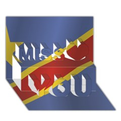 Flag Of Democratic Republic Of The Congo Miss You 3D Greeting Card (7x5)