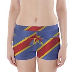 Flag Of Democratic Republic Of The Congo Boyleg Bikini Wrap Bottoms
