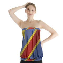 Flag Of Democratic Republic Of The Congo Strapless Top