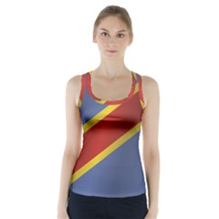 Flag Of Democratic Republic Of The Congo Racer Back Sports Top