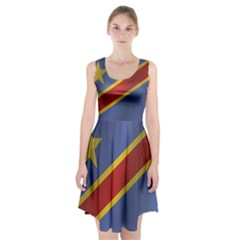 Flag Of Democratic Republic Of The Congo Racerback Midi Dress