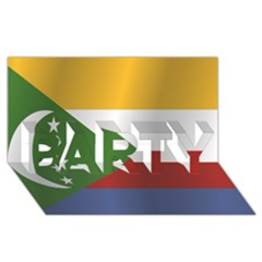Flag Of Comoros PARTY 3D Greeting Card (8x4)