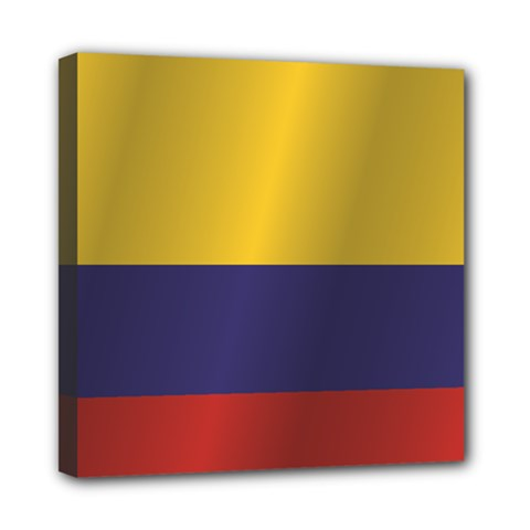 Flag Of Colombia Mini Canvas 8  x 8