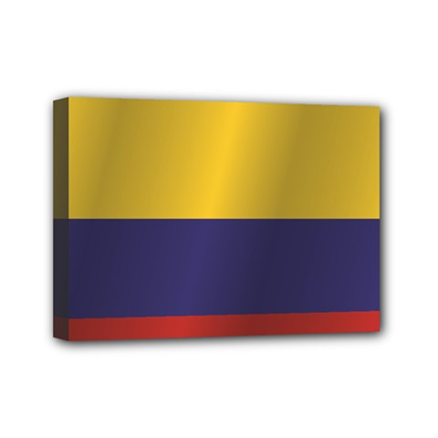 Flag Of Colombia Mini Canvas 7  x 5