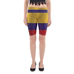 Flag Of Colombia Yoga Cropped Leggings