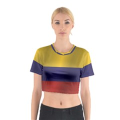 Flag Of Colombia Cotton Crop Top