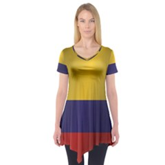 Flag Of Colombia Short Sleeve Tunic