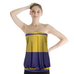 Flag Of Colombia Strapless Top