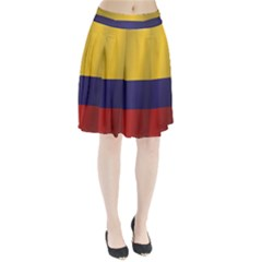Flag Of Colombia Pleated Skirt