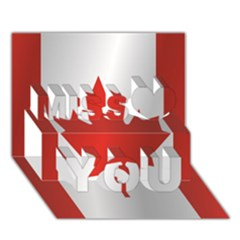 Flag Of Canada Miss You 3D Greeting Card (7x5)