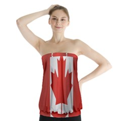 Flag Of Canada Strapless Top