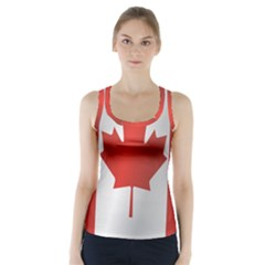 Flag Of Canada Racer Back Sports Top